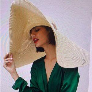 Asos Design Oversize Turn Nack brings straw hat